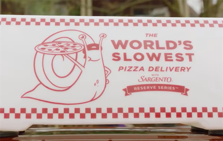 It's finally here: The 'world's slowest pizza delivery' arrives