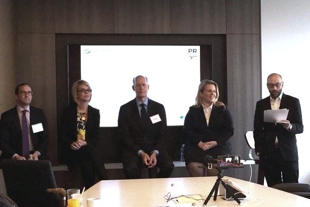 From left: Jefrey Pollock, founding partner and president, Global Strategy Group;  Kelly Cushman, EVP, JDA Frontline; Don Baer, worldwide chair and CEO, Burson-Marsteller; KayAnn Schoeneman, SVP, Ketchum; and Jim Papa, EVP, Global Strategy Group