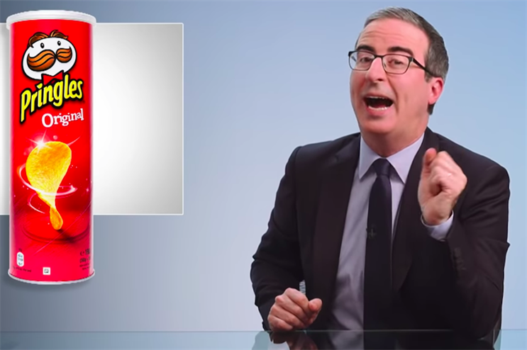 John Oliver pressures Pringles to reveal mascot's body: What do you think it looks like?
