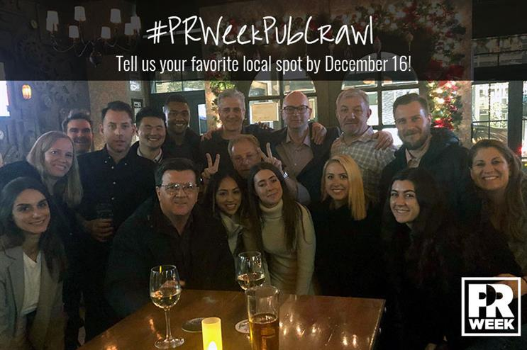 The PRWeek team loves to kick back and catch up at Crompton Ale House in Chelsea.