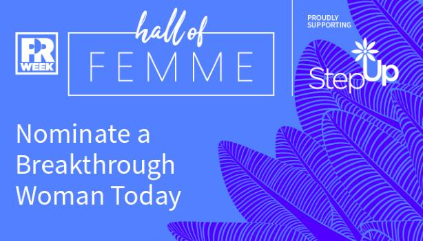 PRWeek US partners with Step Up on 2019 Hall of Femme