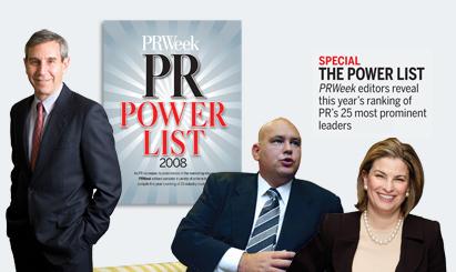 Power List 2008: Power positions