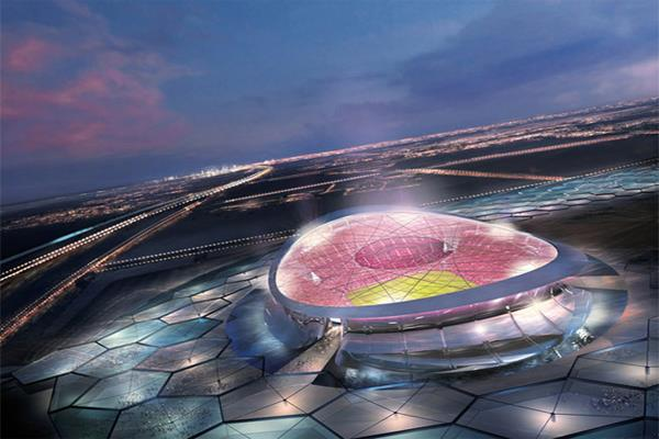 The planned Lusail Iconic Stadium in Qatar. (Image via WhyQatar2022.com).