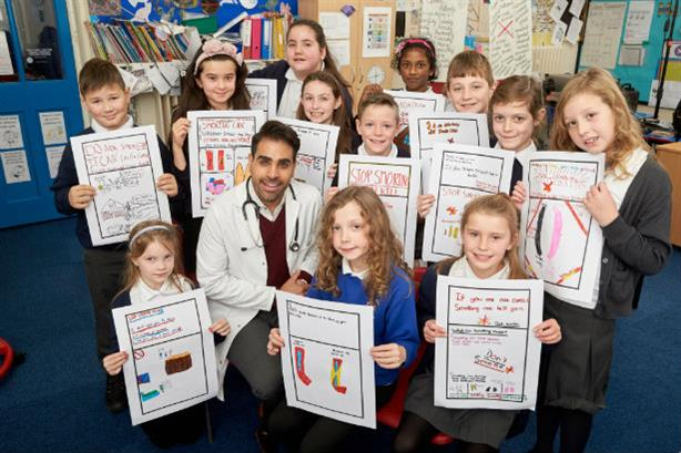 Doctor/TV star Ranj Singh in PHE campaign enrolling children to encourage adults to stop smoking