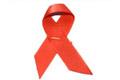 Red ribbon: AIDS awareness symbol