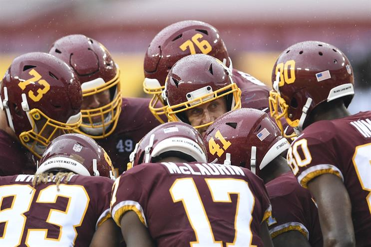 The Washington Football Team rebranded this summer, with plans to announce a new nickname soon. (Photo credit: Getty Images).
