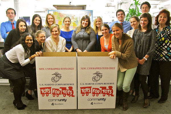 RF Binder collects toys for children