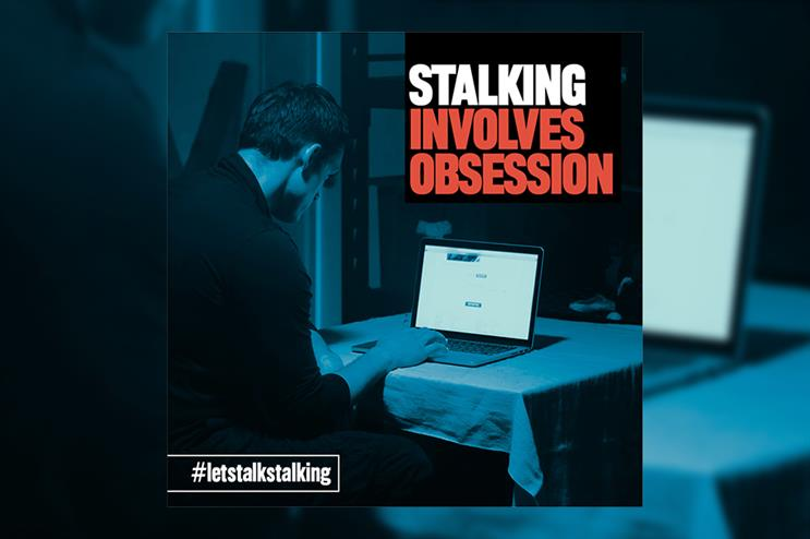 One of the images being used in Staffordshire Police's new campaign to raise awareness of stalking