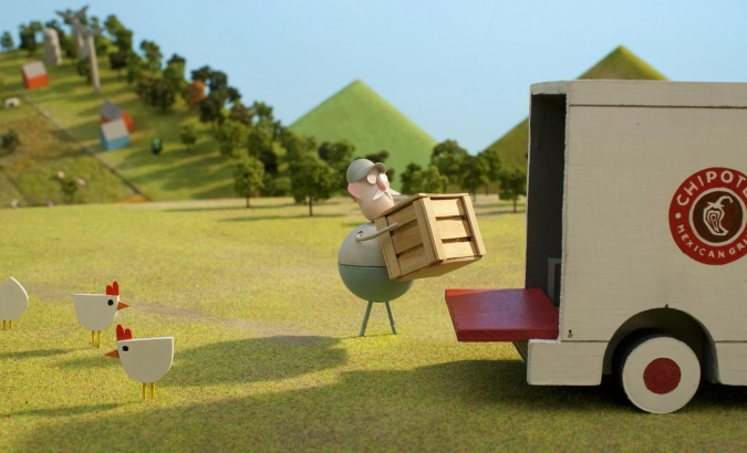 animated still from the Chipotle back to the start campaign