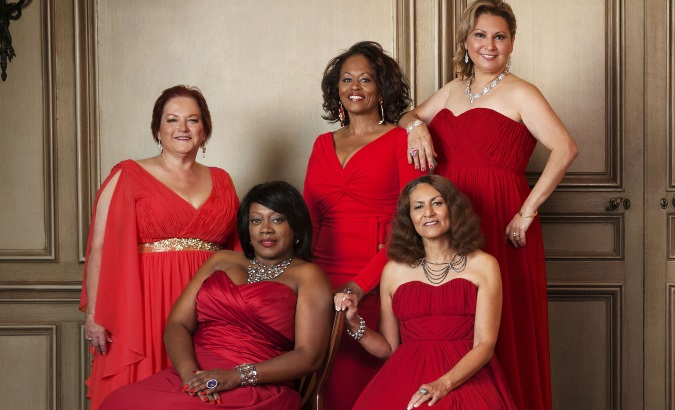 women in red dresses for the Heart Turth campaign