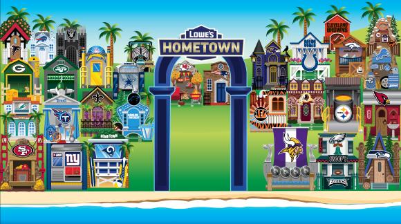 Lowes' Hometown Super Bowl neighborhood activation
