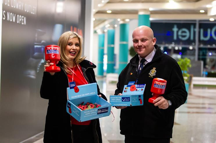TV presenter and mathematician Rachel Riley teams up with poppy collectors in Salford