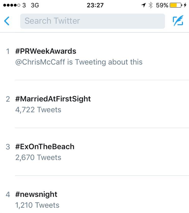 #PRWeekAwards on Twitter