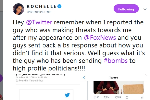 Comms pro threatened by pipe bomb suspect calls out social media