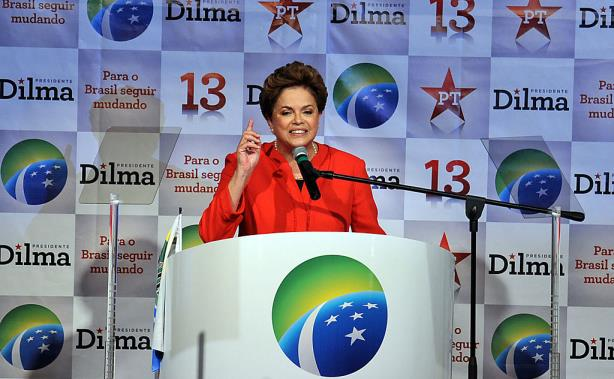 Newly reelected Brazilian President Dilma Rousseff