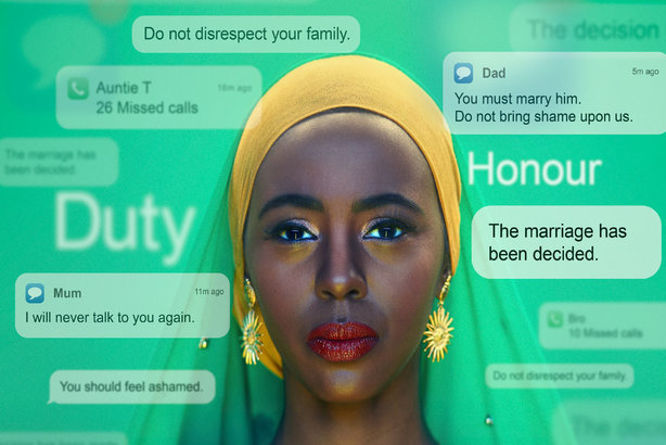 One of the posters from the Home Office's new forced marriage campaign