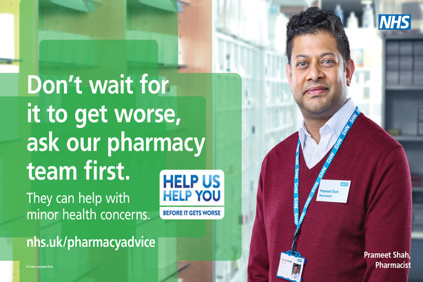Campaign nudges public to pharmacists rather than GPs for minor ailments