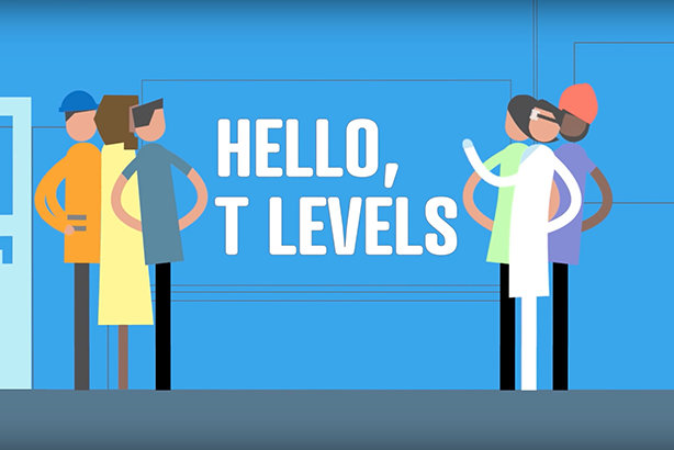 The Department for Education is using an animated film to promote T levels