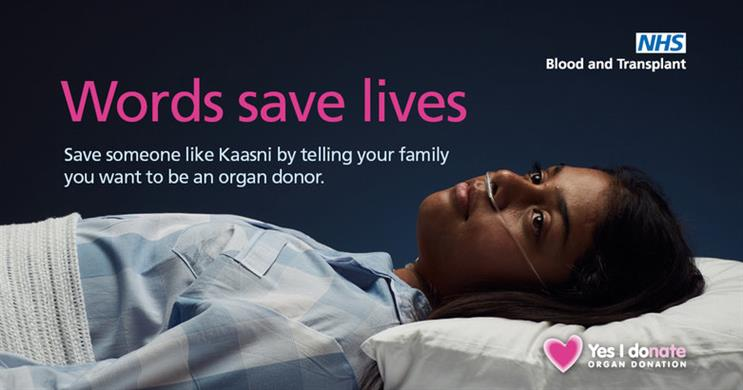One of the images being used in the new campaign (Pic credit: NHSBT)