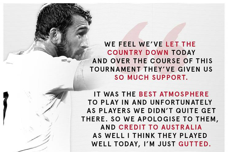 England Rugby: Posted on behalf of captain Chris Robshaw an hour and a half after the final whistle on Saturday