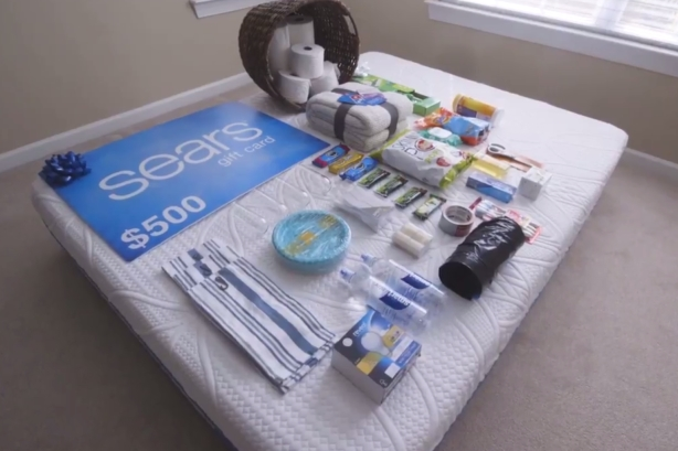 Sealy and Sears surprise families with goodies on first night in their new homes