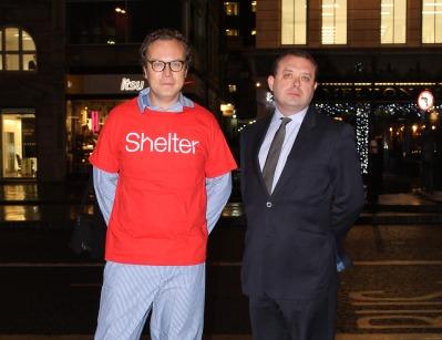 Neale and Ingham: Raising money for homelessness charity Shelter