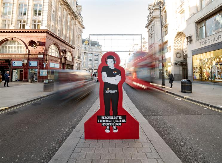 Watch: Art showing loneliness promotes Xmas LGBT+ helpline