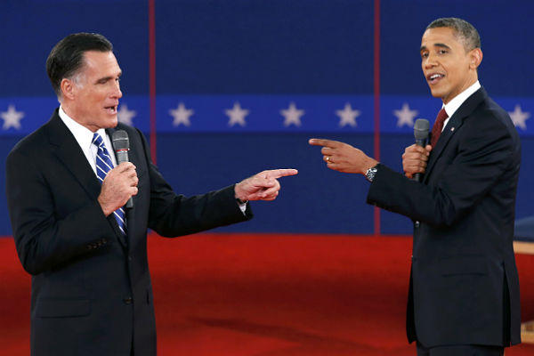 Obama aggressive in second debate with Romney