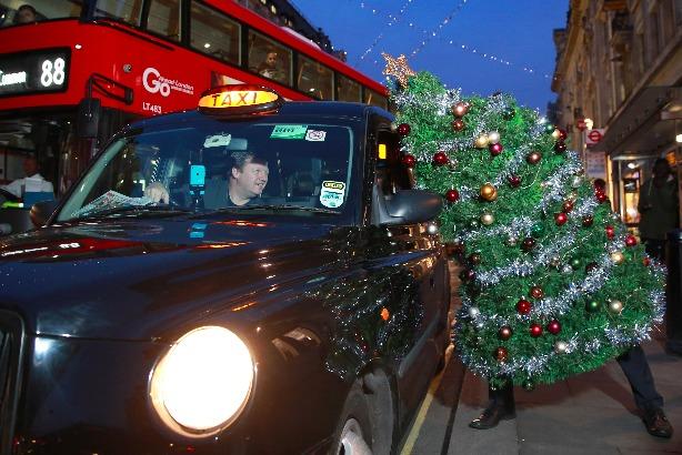 The 'Christmas Party Escape Suit' (credit: Matt Alexander/PA Wire)