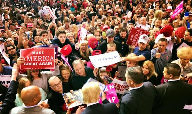 Donald Trump campaigns in Ohio in the race's closing days. (Image via Facebook).