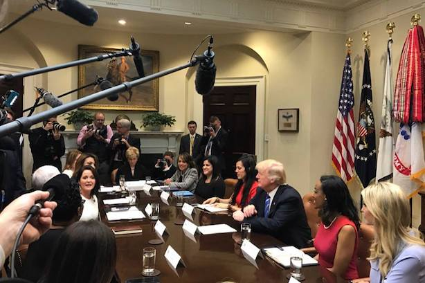 Trump meets with business leades on Monday. (Image via the White House's Facebook page.