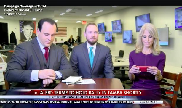 The first regular installment of Trump TV. (Screenshot via Facebook).