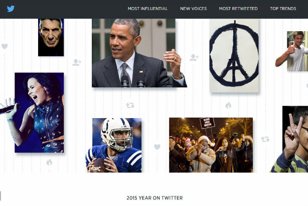 One Direction, Caitlyn Jenner, Obama, iPads and #JeSuisCharlie: Twitter's review of 2015