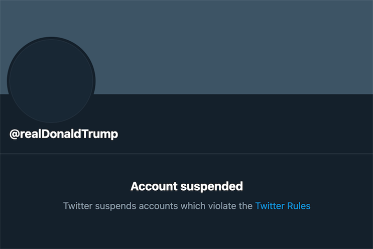 Twitter suspends Trump account permanently