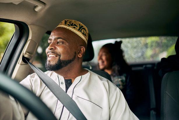 An Uber driver (image taken from media section of Uber website)