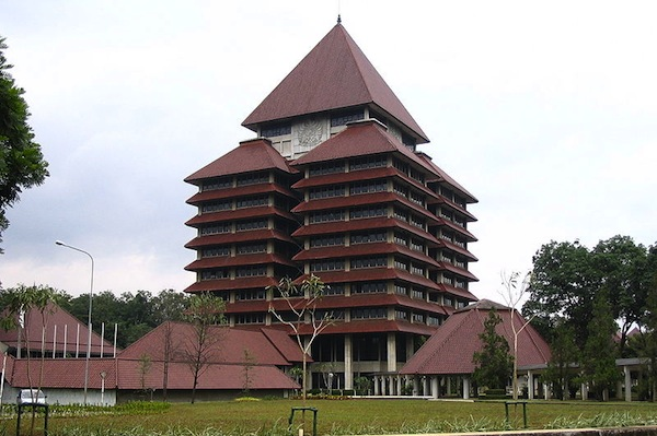 The main building at Universitas Indonesia