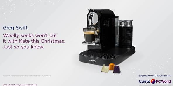 Currys PC World ramps up £10m 'Spare the Act' Christmas campaign