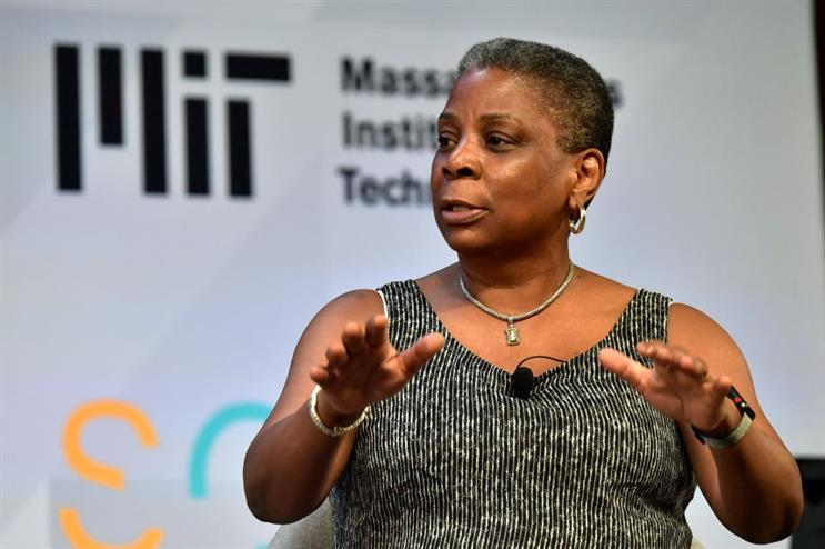 Ursula Burns speaking at the Massachusetts Institute of Technology in May 2018 (photo: Paul Marotta/Getty Images for MIT Solve)