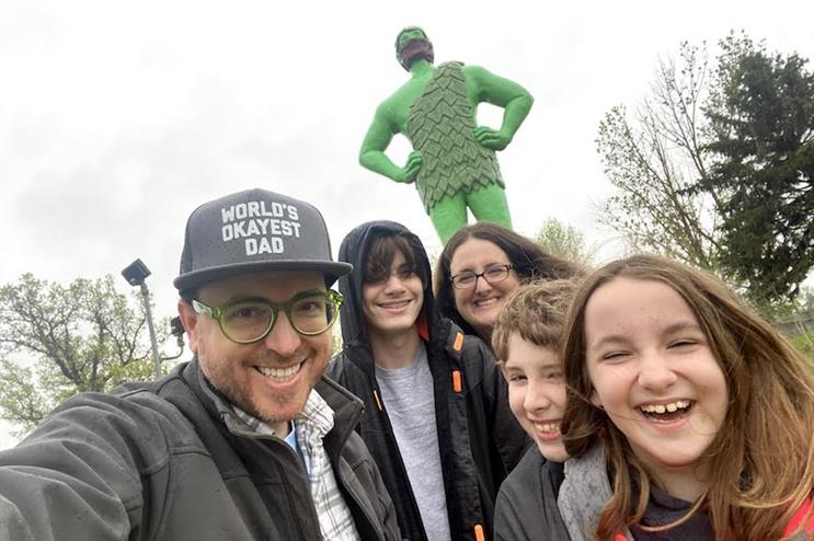 Fallon's Greg Swan has been taking his family on surprise road trips.