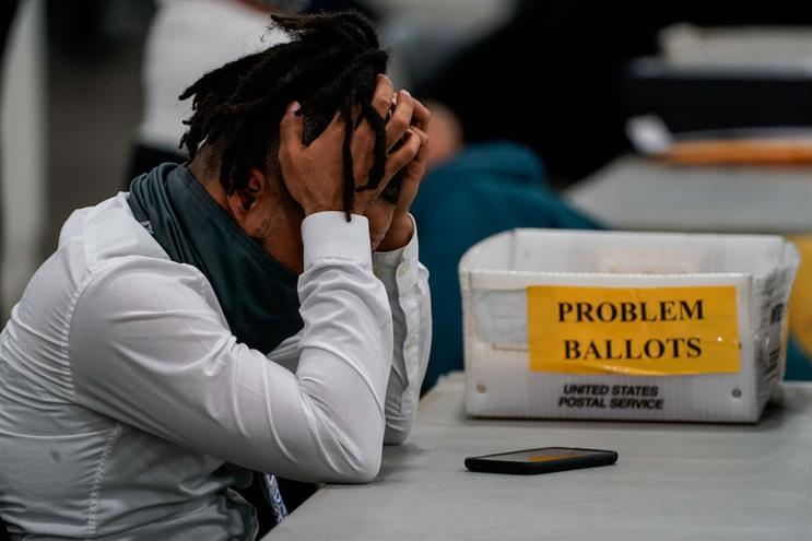 Ballot-counting in Michigan this week. (Photo credit: Getty Images).