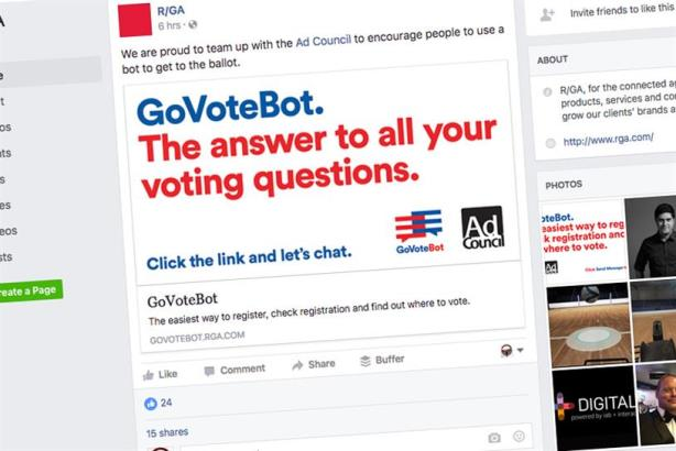 R/GA and Ad Council build a voting bot to drive millennials to the polls