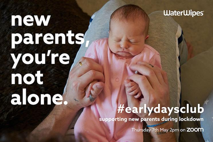 Early Days Club: Water Wipes' campaign offers expert advice and peer support.
