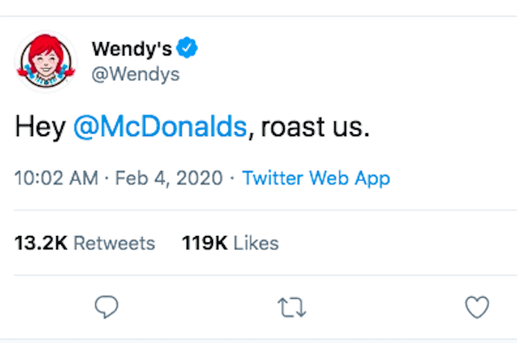 Wendy's never directly named McDonald's in trolling tweets, until now