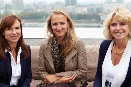 Wild Card management team: (l-r) Tessa Willmott, Sarah Harding, Kate Wild