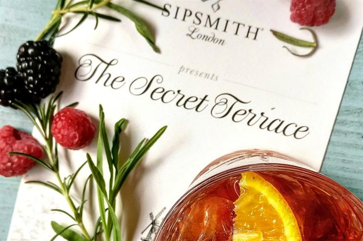 Sipsmith to open secret terrace