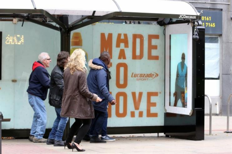 Lucozade: bus shelter fitness session