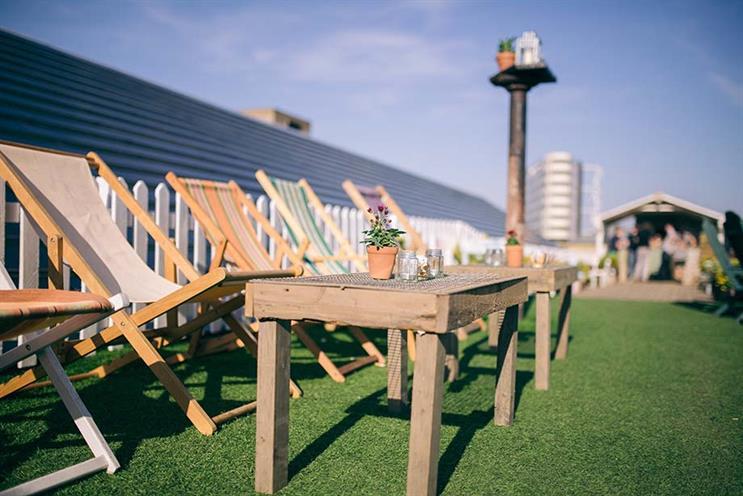 Rooftop event venues: Dalston rooftop park, London