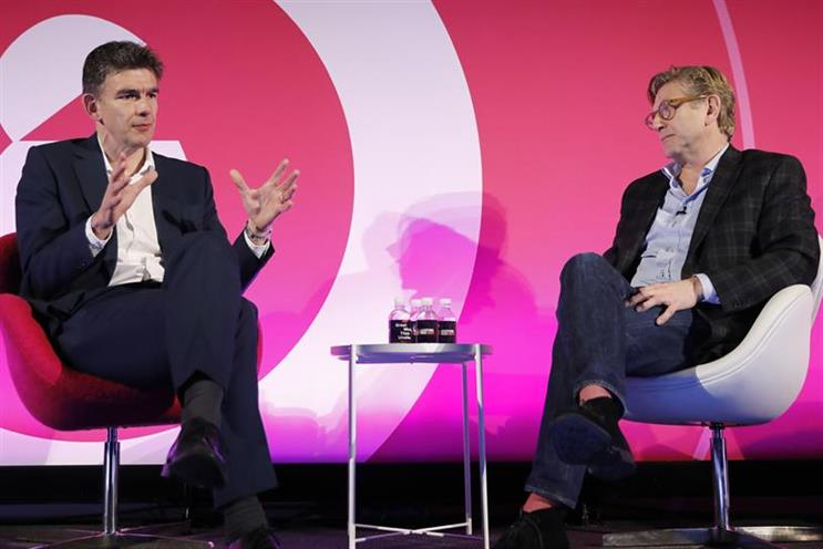 Google's Matt Brittin (left) with Unilever's Keith Weed at Advertising Week Europe 2017