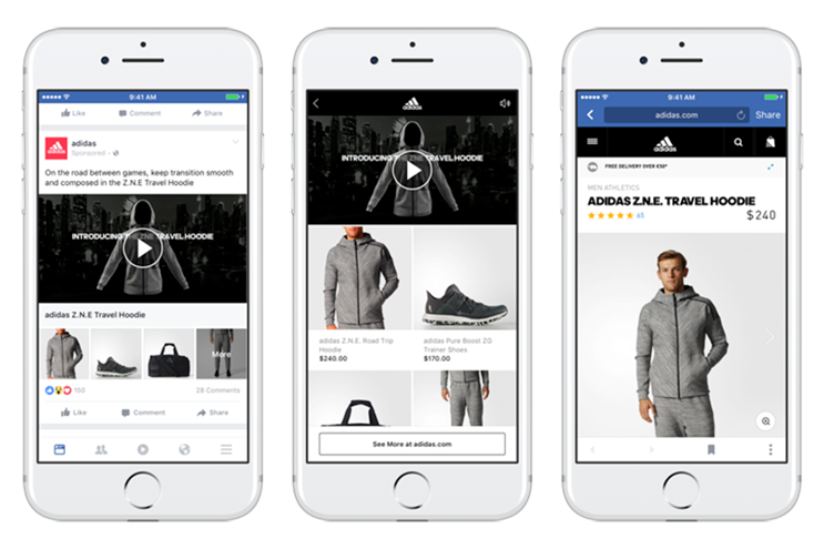Facebook continues its video push with shoppable ad format for mobile