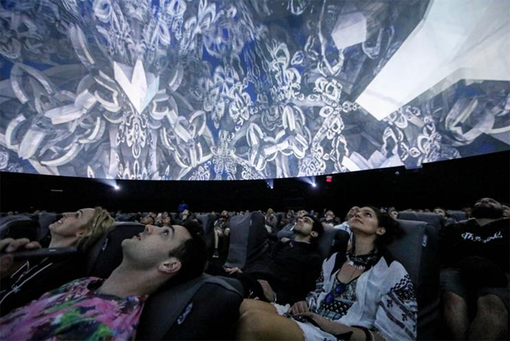 Inside HP's Antarctic Dome at Coachella.
